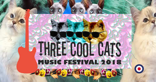 Logo - Three Cool Cats Festival 2018 Nuremberg